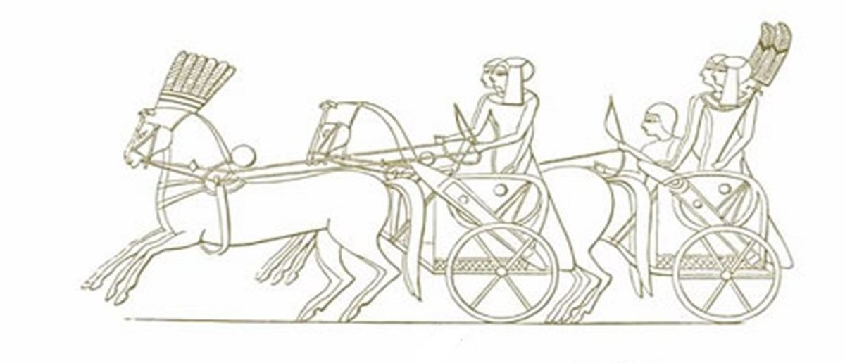 Ancient Egyptian Art Coloring Pages Free Colouring Pictures - Pharaohs Chariots