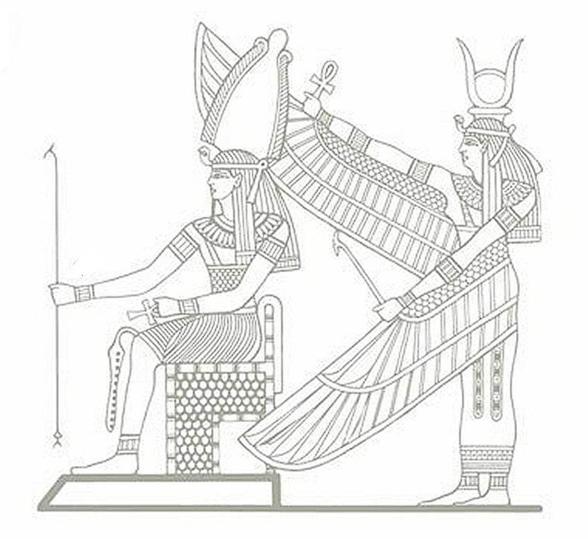 Egyptain Tomb Coloring Page