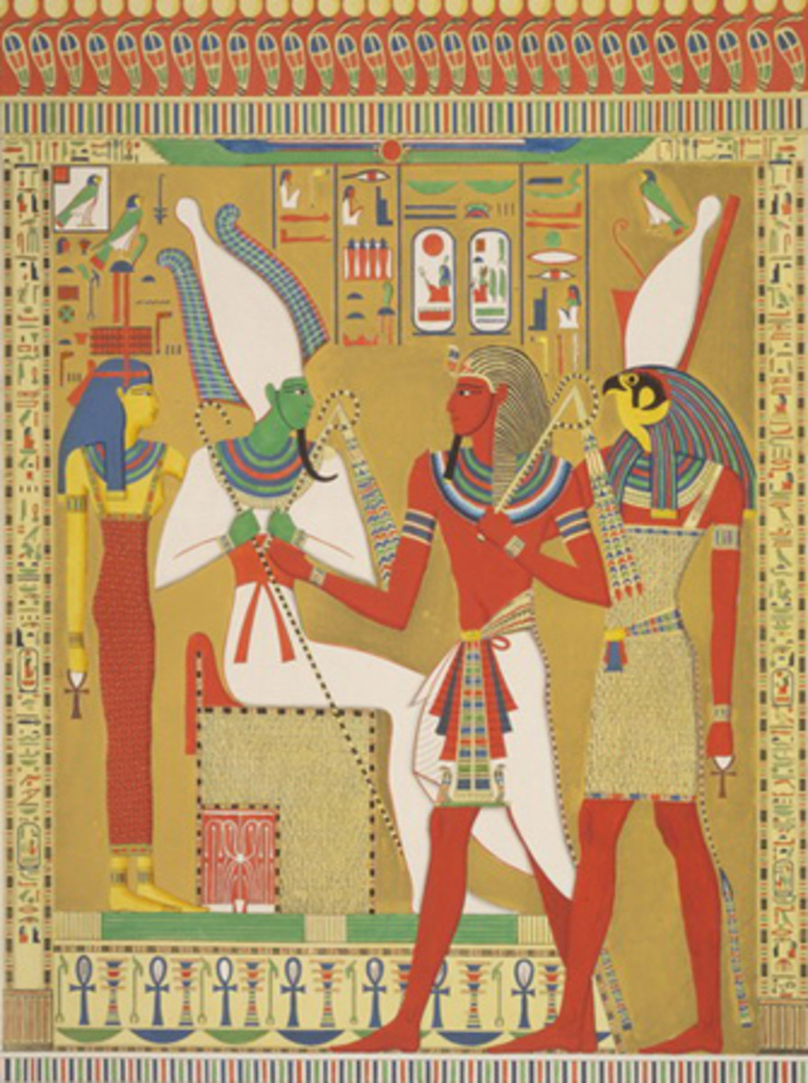 Ancient Egyptian Art Coloring Pages Color Example