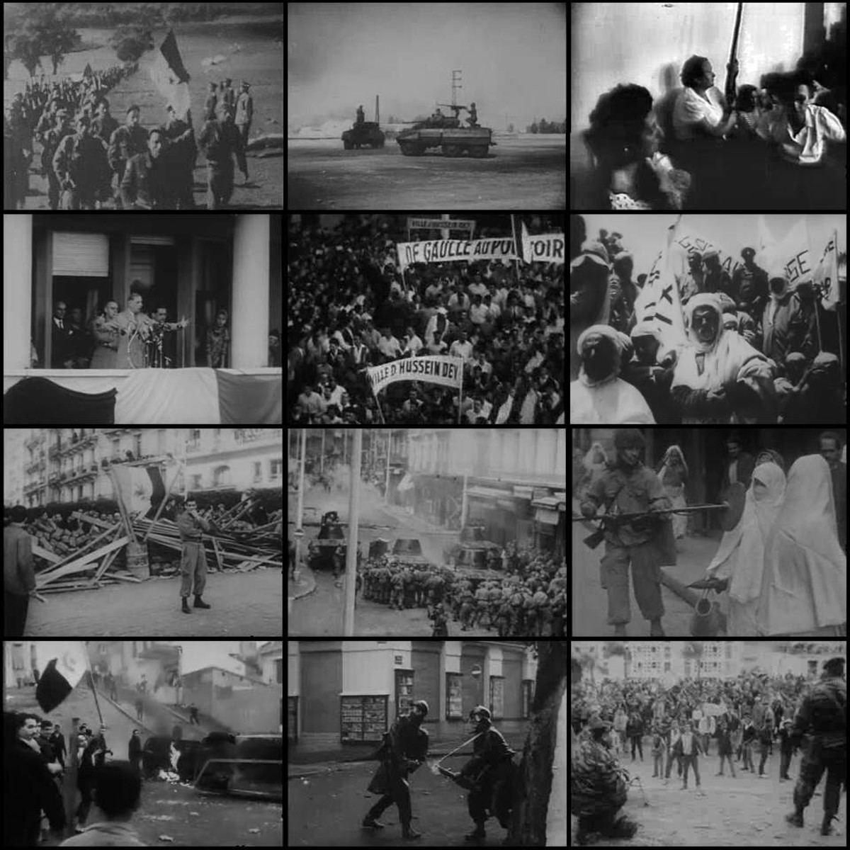 Photo collage about Algerian War
