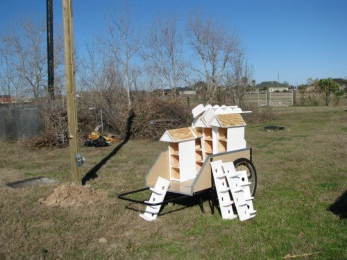 Our T-14 houses awaiting assembly.