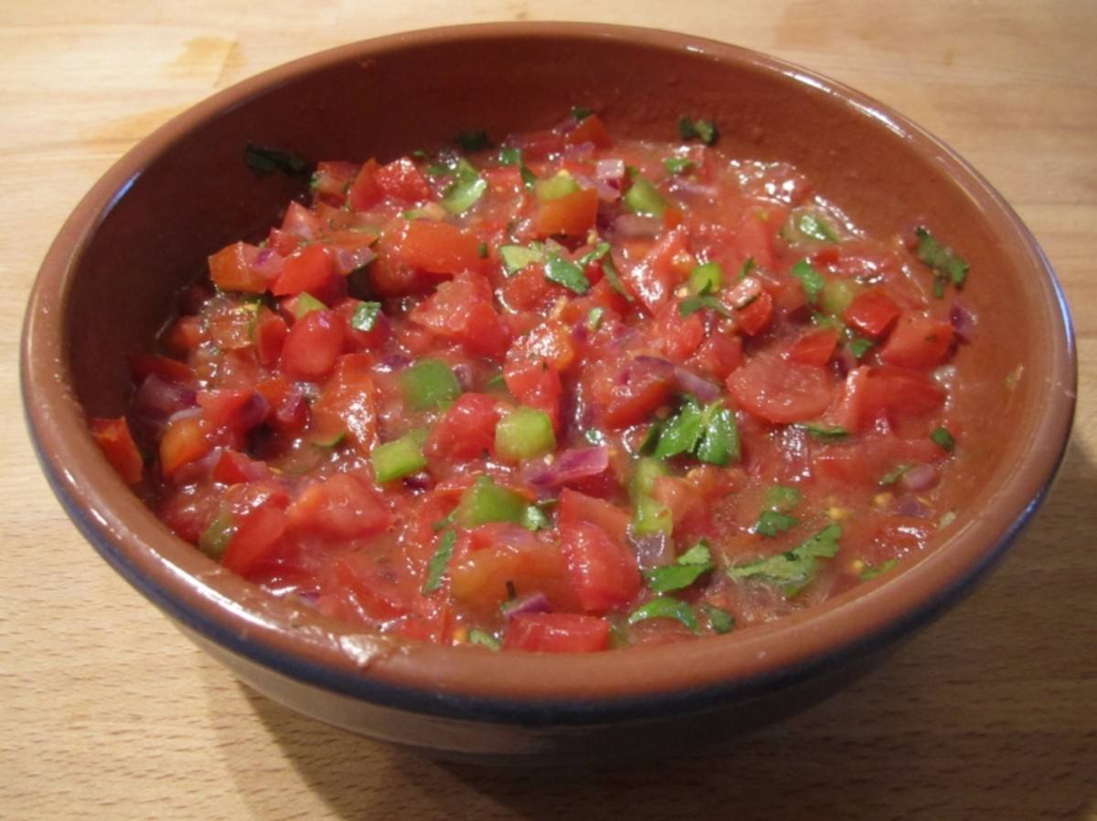 The loading dock Homemade salsa with fresh tomatoes recipe.
