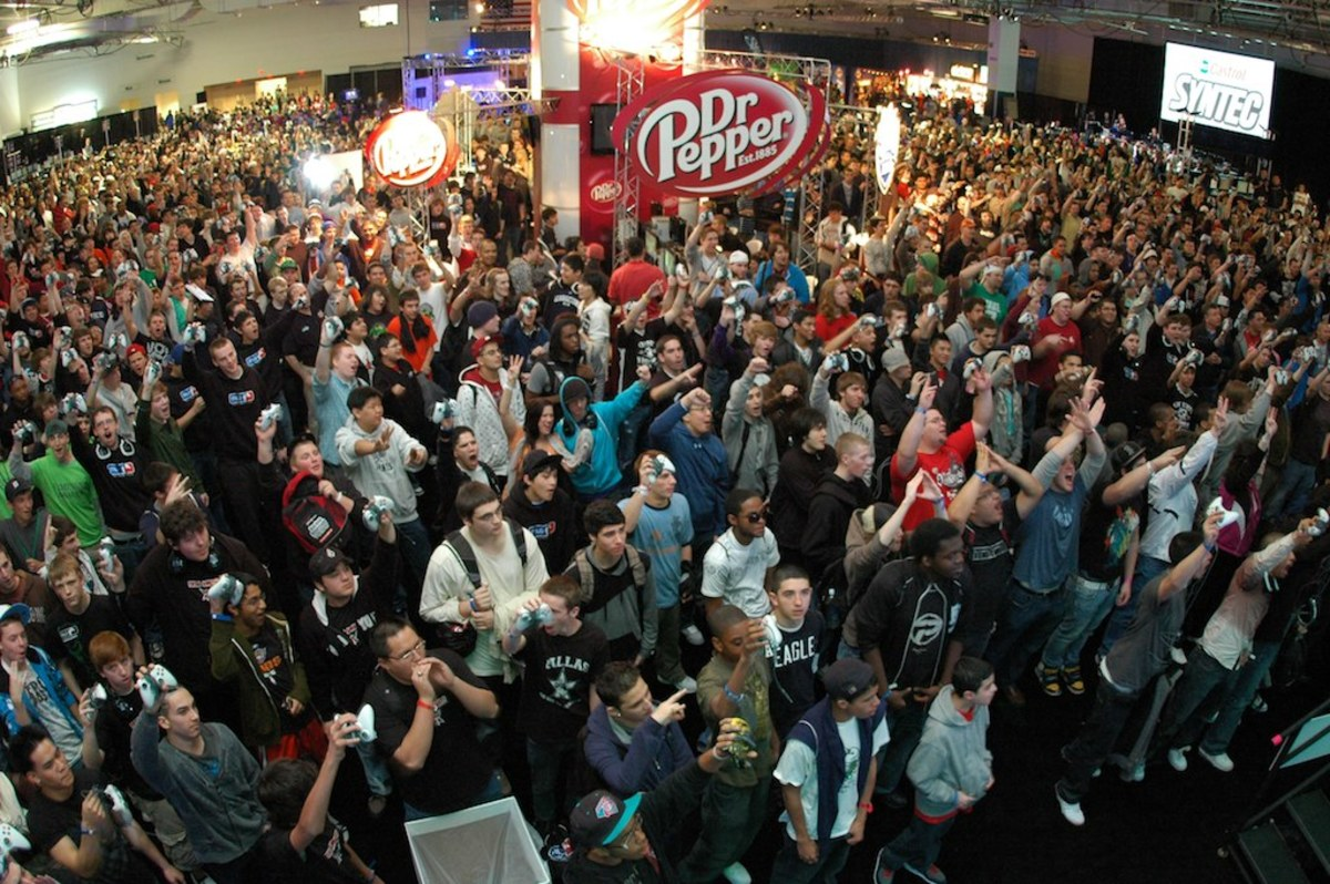 The crowd at a Major League Gaming event.