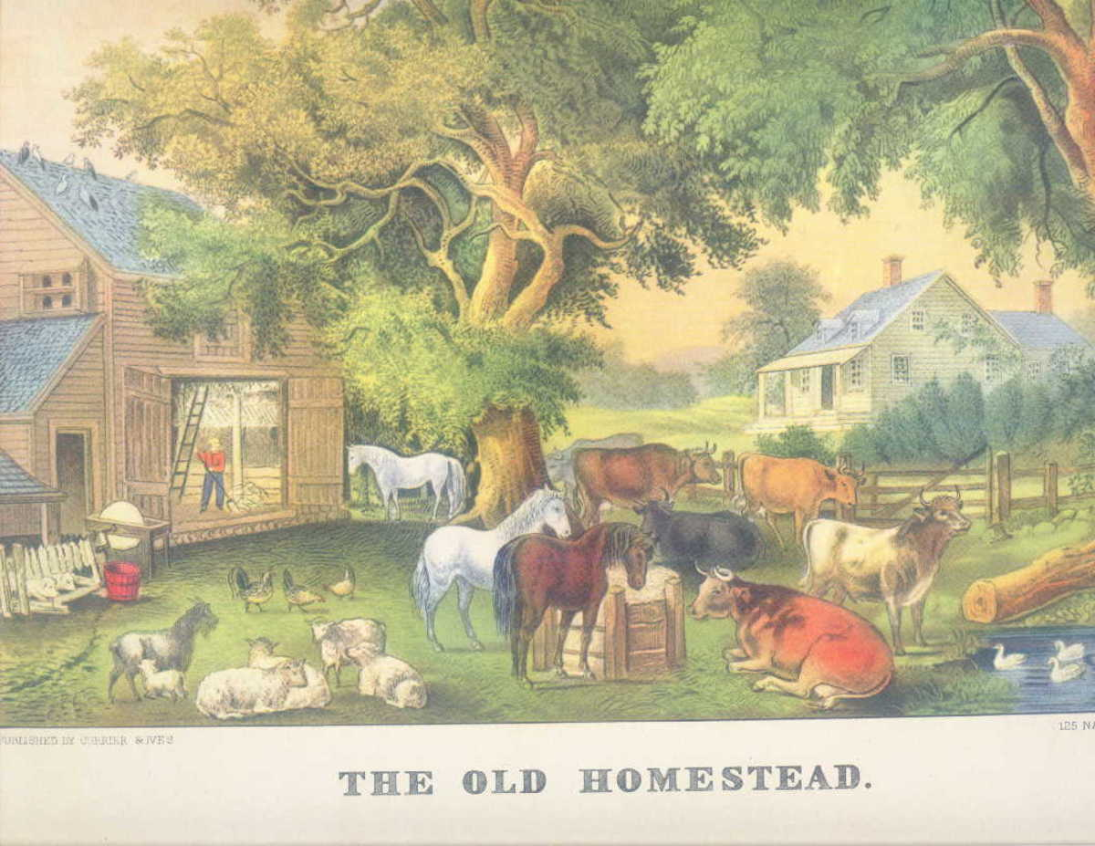 The Old Homestead print, full color reproduction by Donald Art Co.