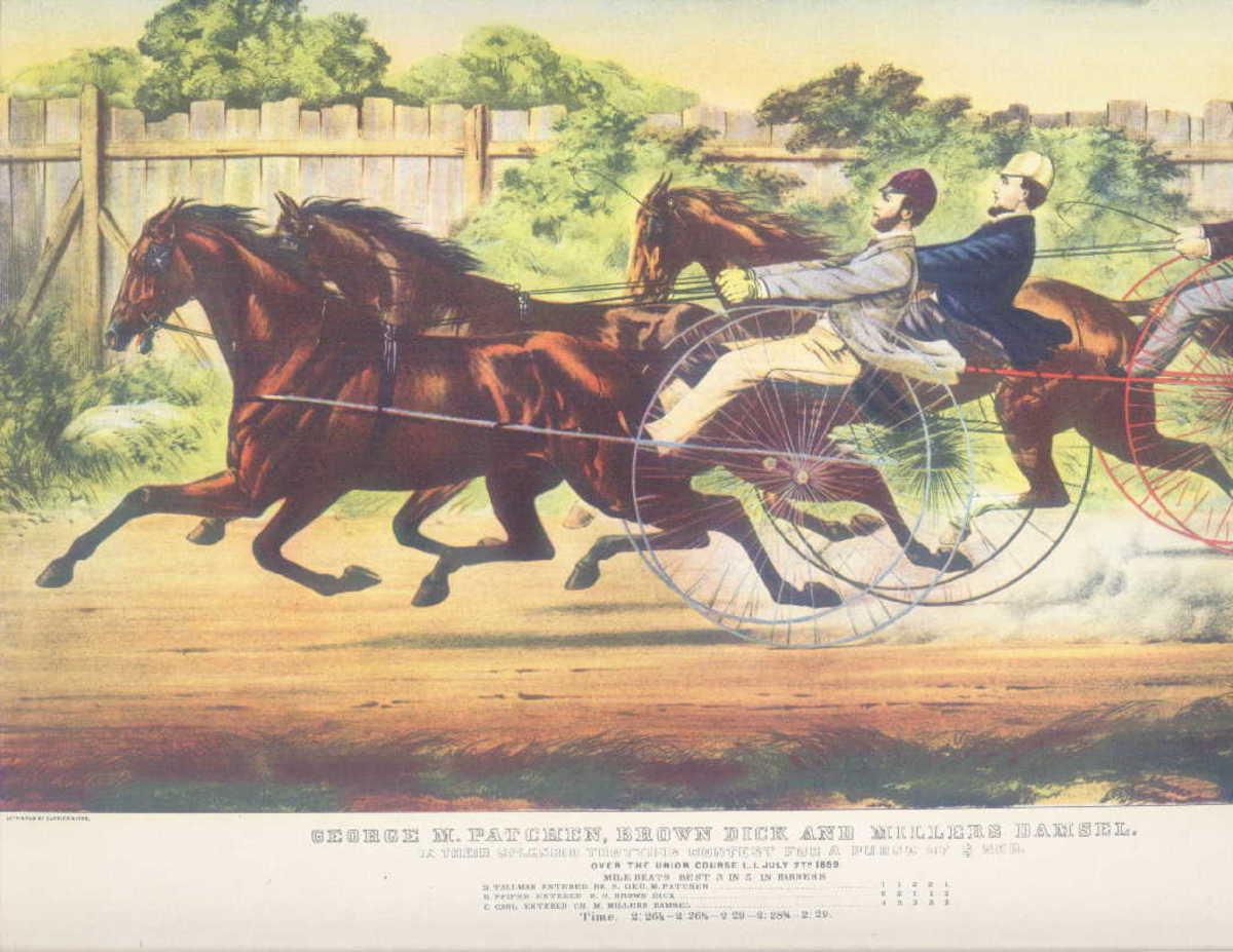 George M. Patchen; race print,Donald Art Co. reproduction
