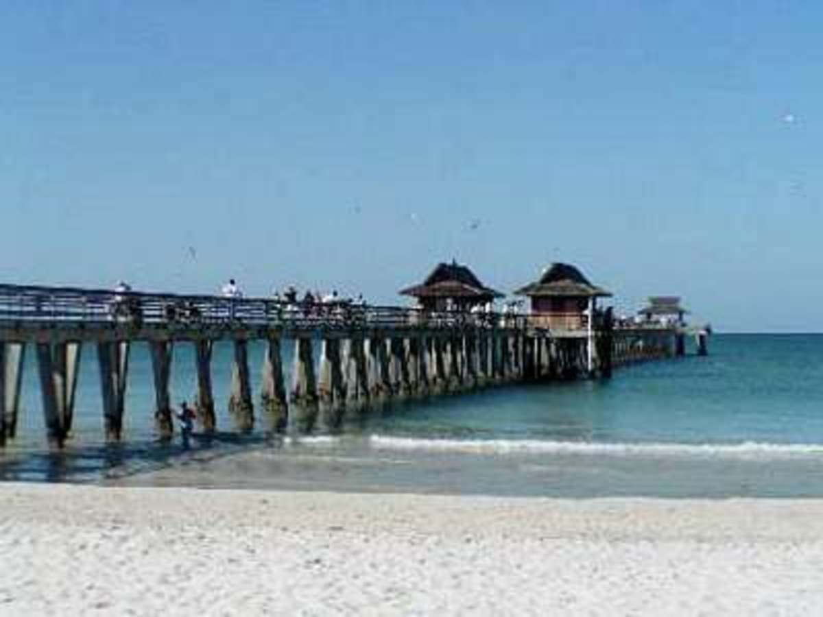 Naples Pier Beach - 12th Avenue S.  One of Naples most popular beaches.