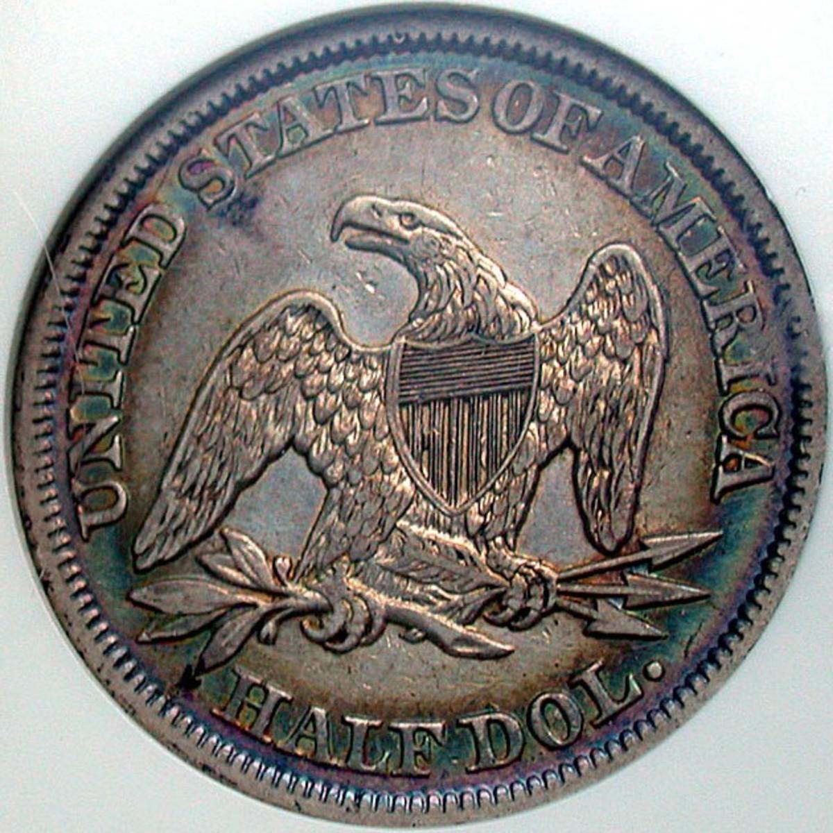 Seated Liberty Half Dollar Reverse. Photo Courtesy: coinpage.com