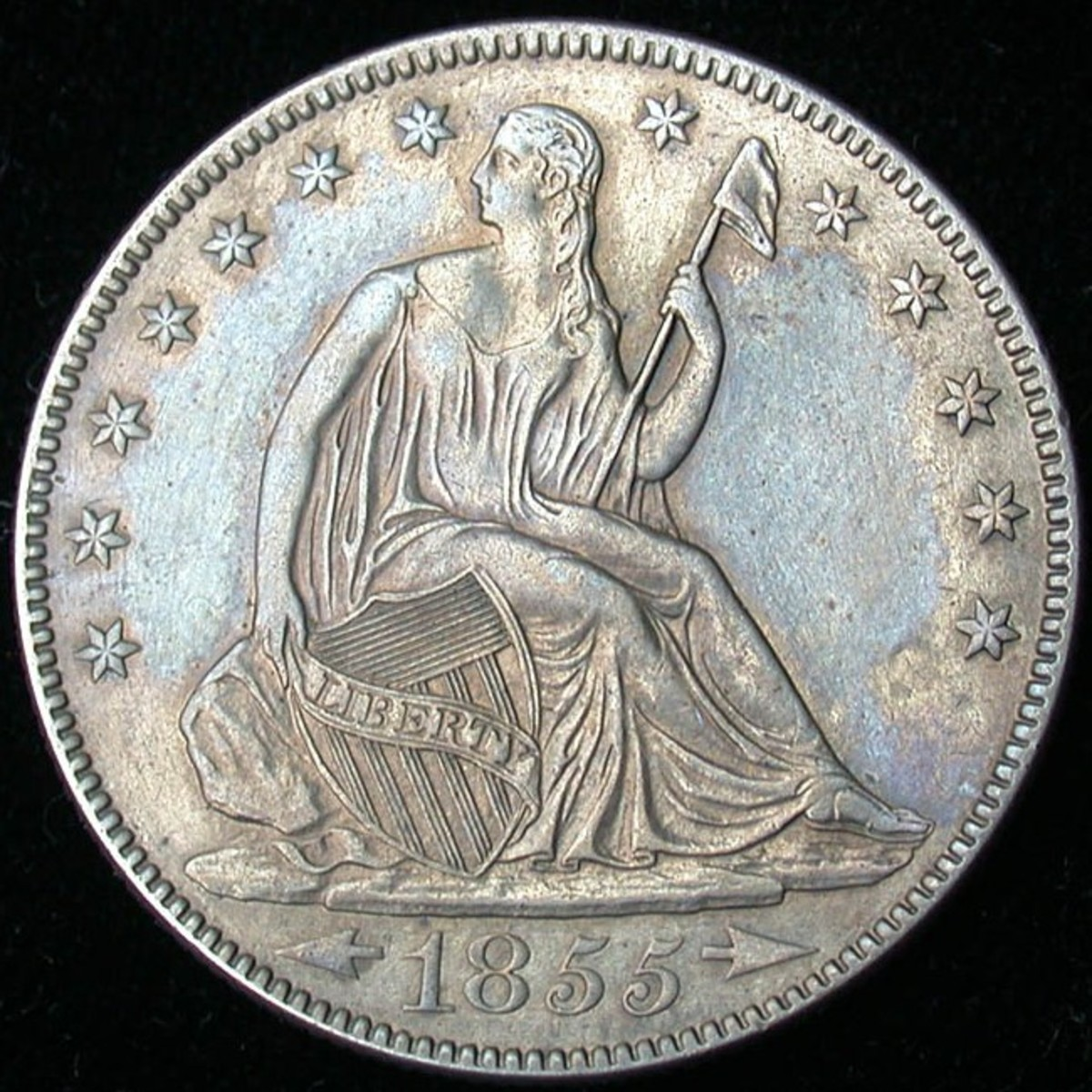 1855 O Seated Liberty Half Dollar Arrows at Date. Photo Courtesy: coinpage.com