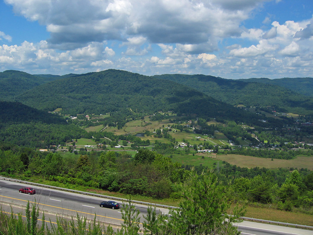 Probably my favorite part of the drive going through the mountains in Tennessee.