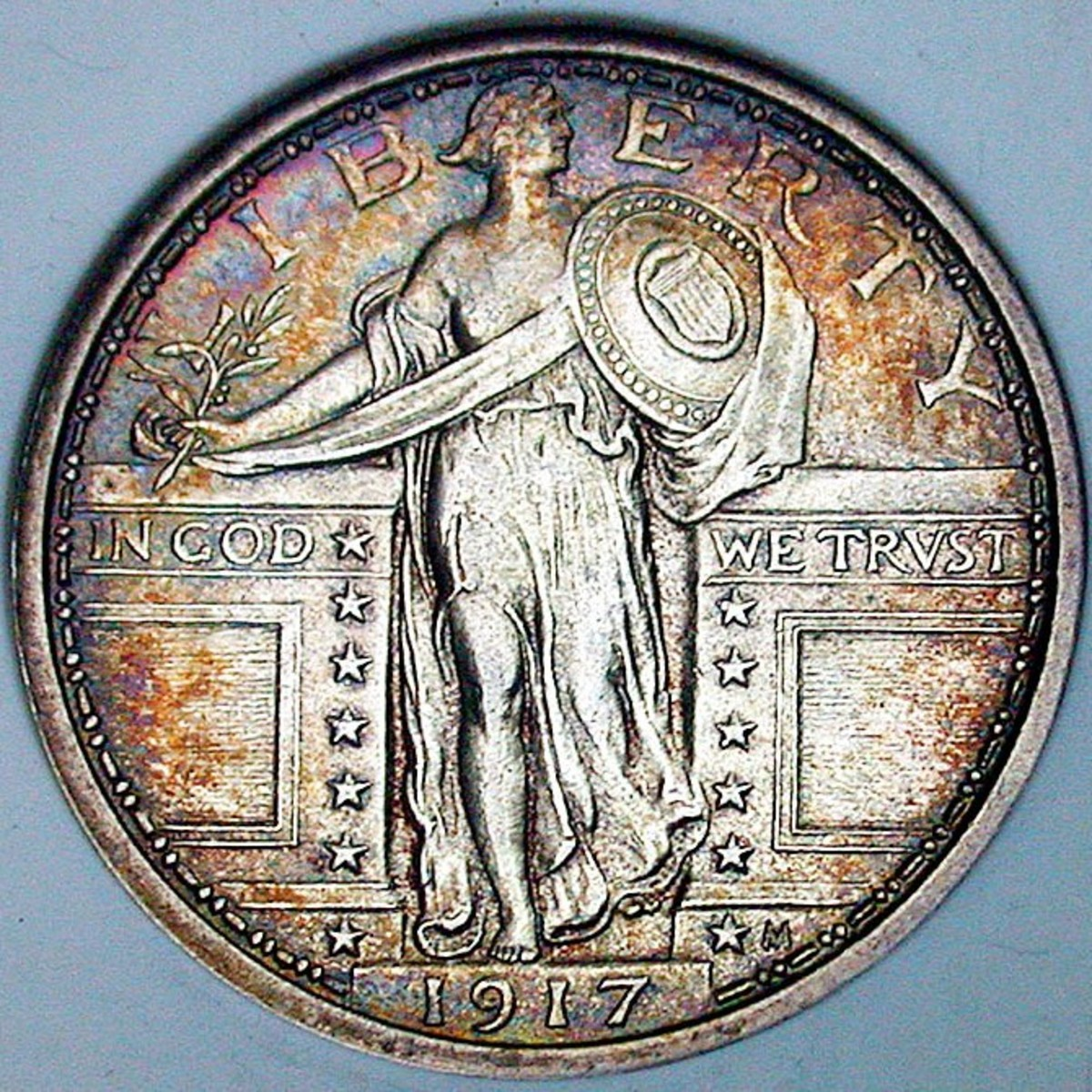 1917 Standing Liberty Quarter Obverse. Variety 1 w/exposed breast. Photo Courtesy: coinpage.com