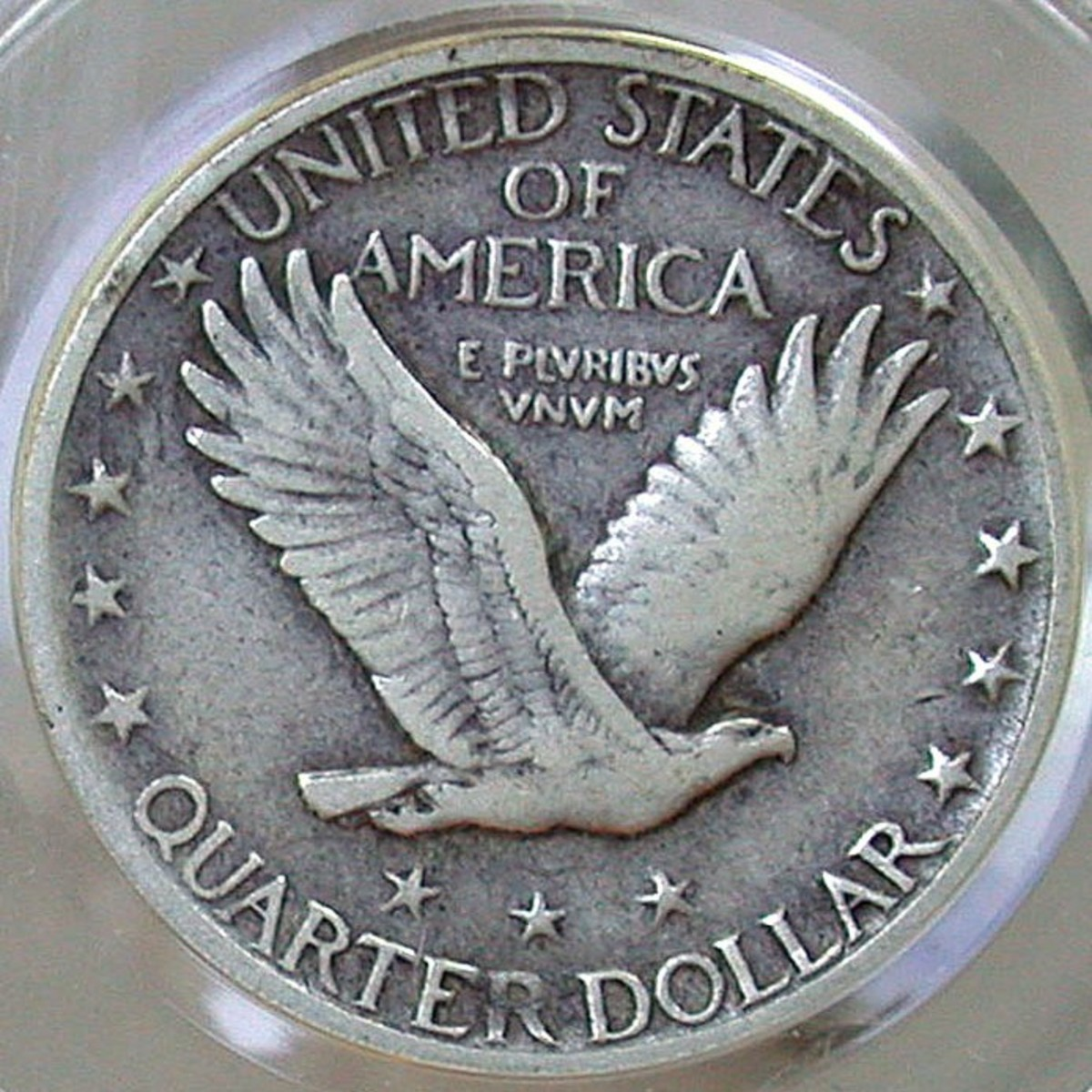 1917 Standing Liberty Quarter Reverse. Variety 2 w/ stars under the Eagle. Photo Courtesy: coinpage.com