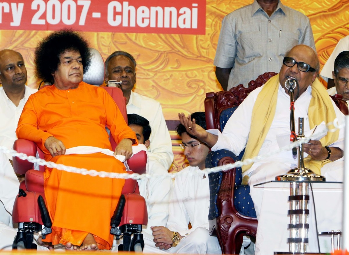 Even the Chief Minister, Karunanidhi, a sworn atheist, seemed to be forced to believe in God because of Swami!