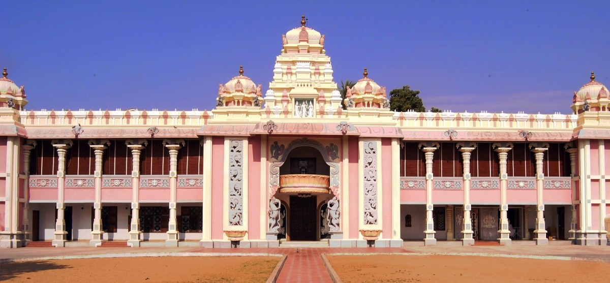 SUNDARAM - Bhagawan's mandir at Chennai. The name means 'Beauty'. It was the venue of the beautiful dialogue on surrender.