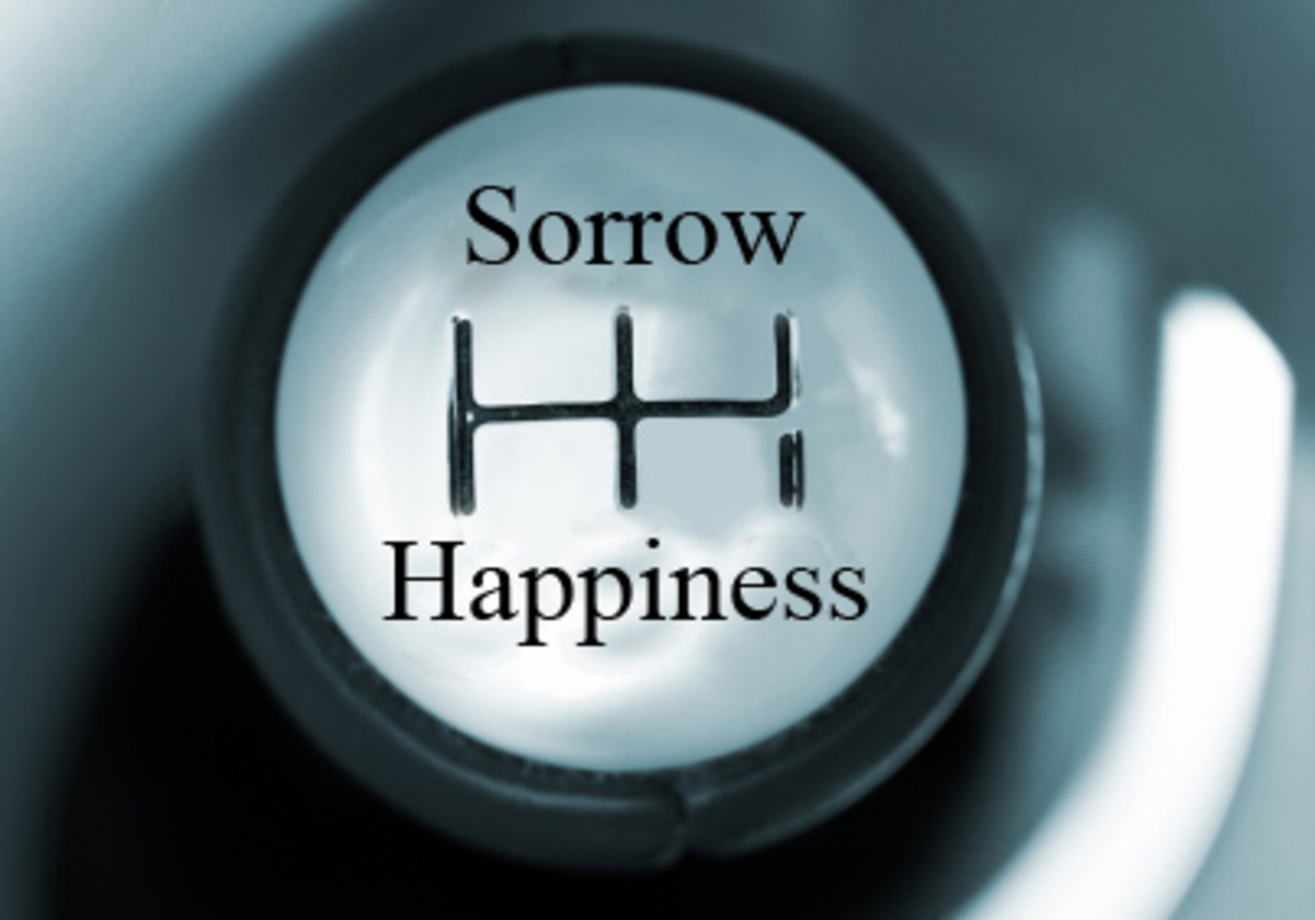 Life constantly shifts between the gears of sorrow and happiness.
