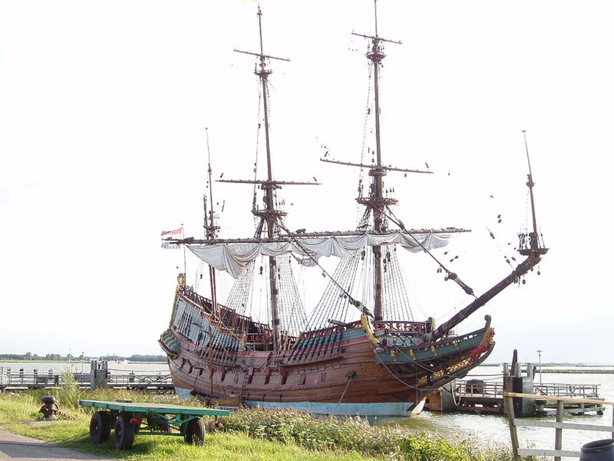 A replica of the Batavia now lays in Lelystad in the Netherlands