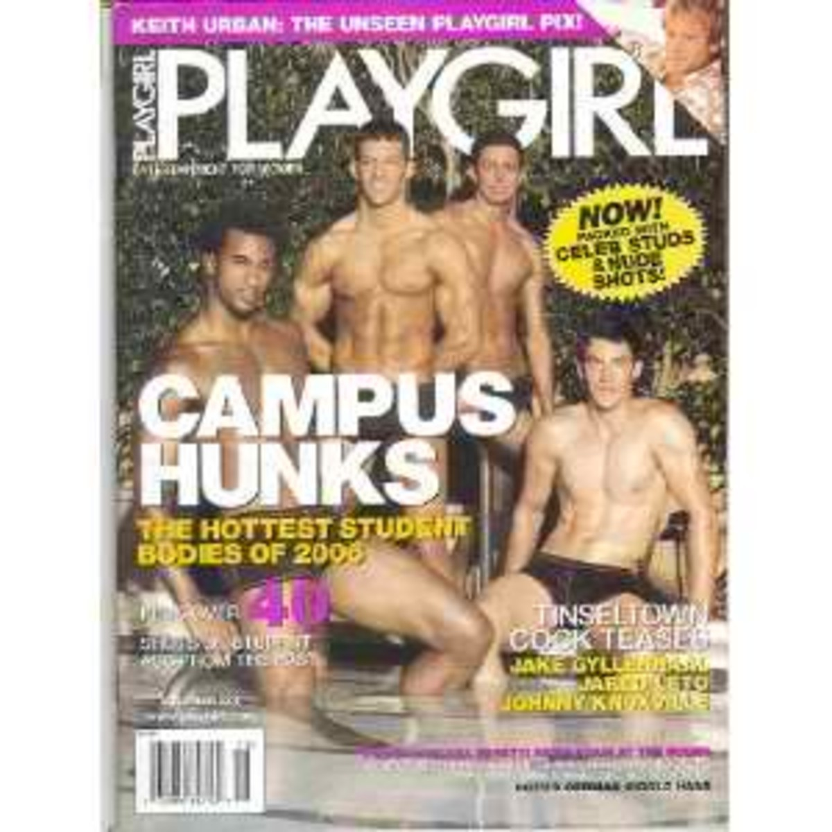 Boham lower right, was on the cover of this Playgirl when he was arrested near the Arizona/Mexico Boarder in November of 2006