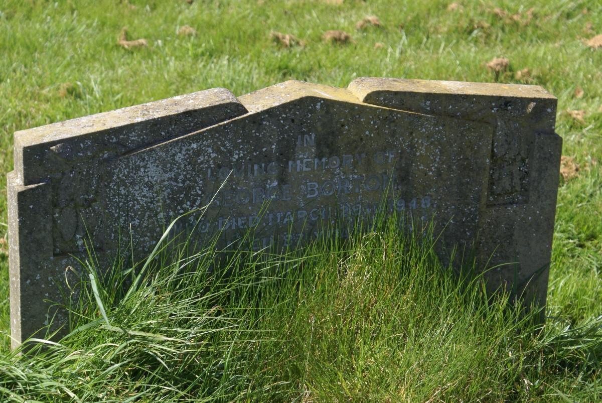 George Borton, gravestone location 22a, St. Laud's Church, Sherington