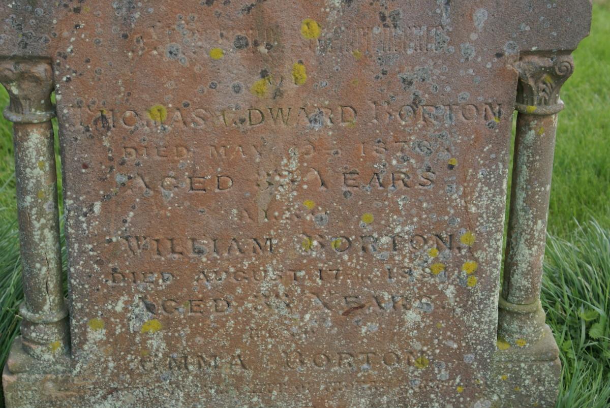 Thomas Edward, William and Emma Borton, St. Laud's Church, Sherington