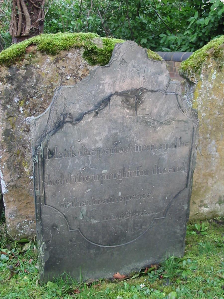 Unnamed headstone in Simpson Churchyard, Simpson, Buckinghamshire