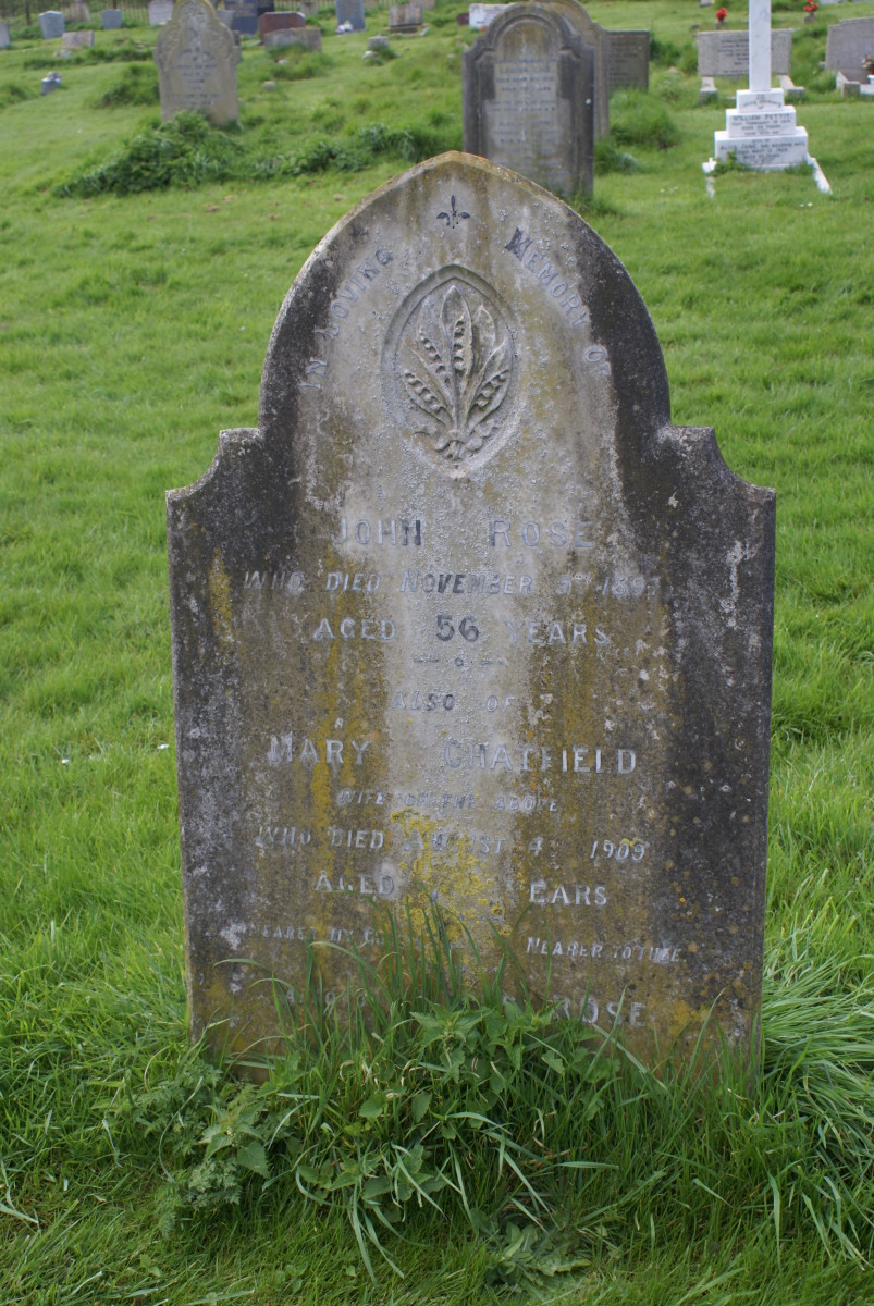 Mary Chatfield with John Rose, St. Laud's, Sherington, Buckinghamshire