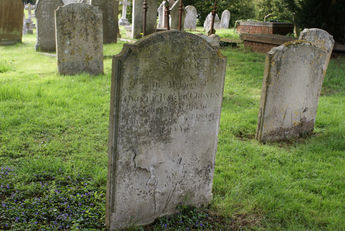 Olive Baker Croxen died 3 Feb 1810 and buried at Woburn Heritage Centre, Old St. Mary's Church, Woburn, Bedfordshire, England