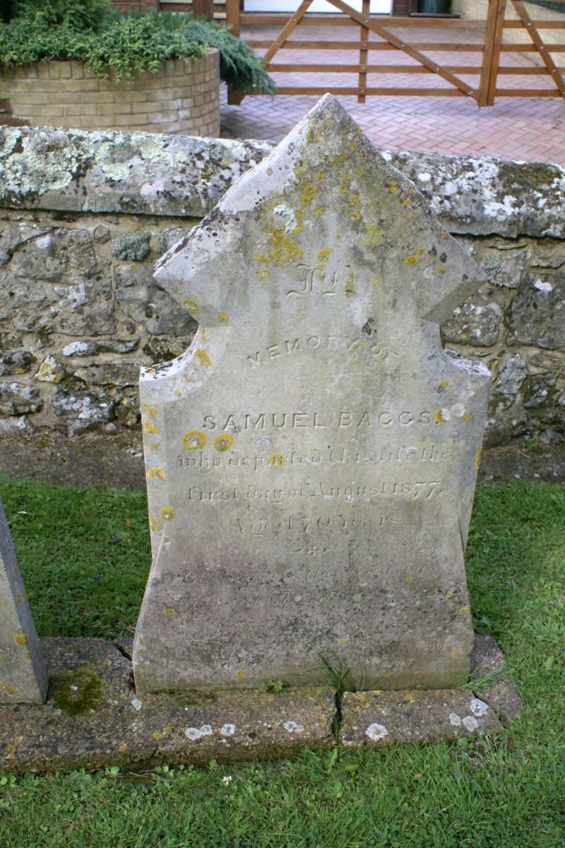 Baggs Gravestone at St. Mary & St. Rhadegund Church