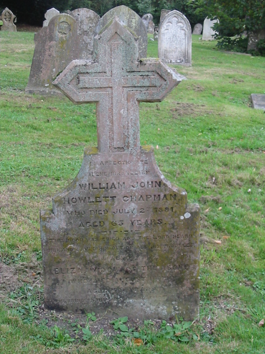 Eliza and William John Howlett Chapman, St. Peter and St. Paul's Church, Newport Pagnell, Buckinghamshire