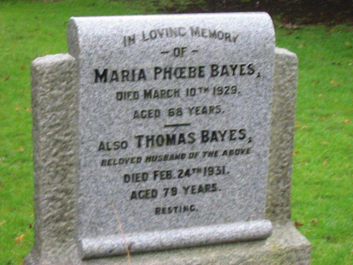 Bayes - Higham Ferrers Cemetery, Higham Ferrers, Northamptonshire