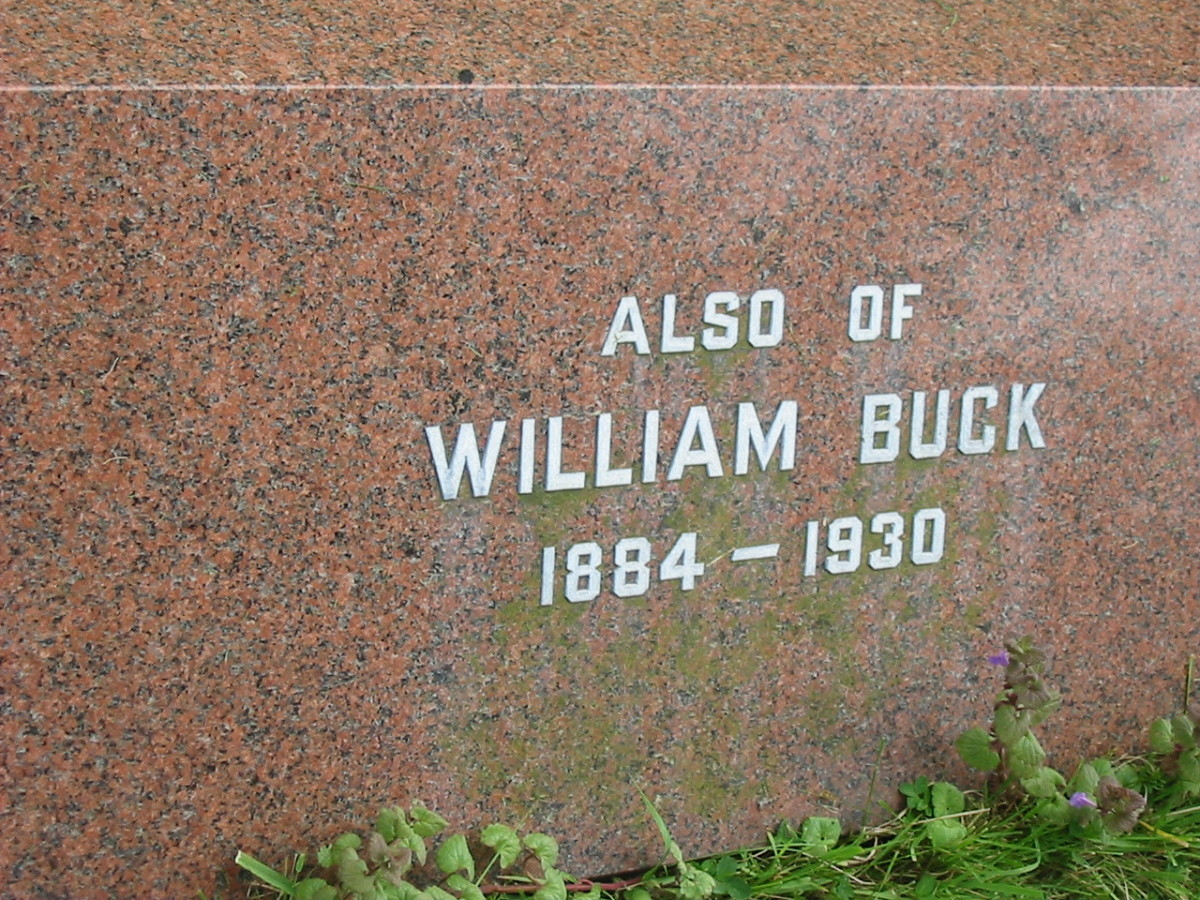 William Jonathan Buck, All Trinity, Old Wolverton, Buckinghamshire - born 1884, burial 5 June 1930, death at time of residence Stratford Road, Stony Stratford/Wolverton