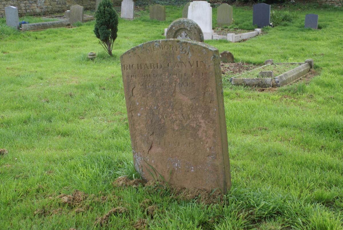 Richard Canvin buried Calverton Church, Lower Weald, Buckinghamshire