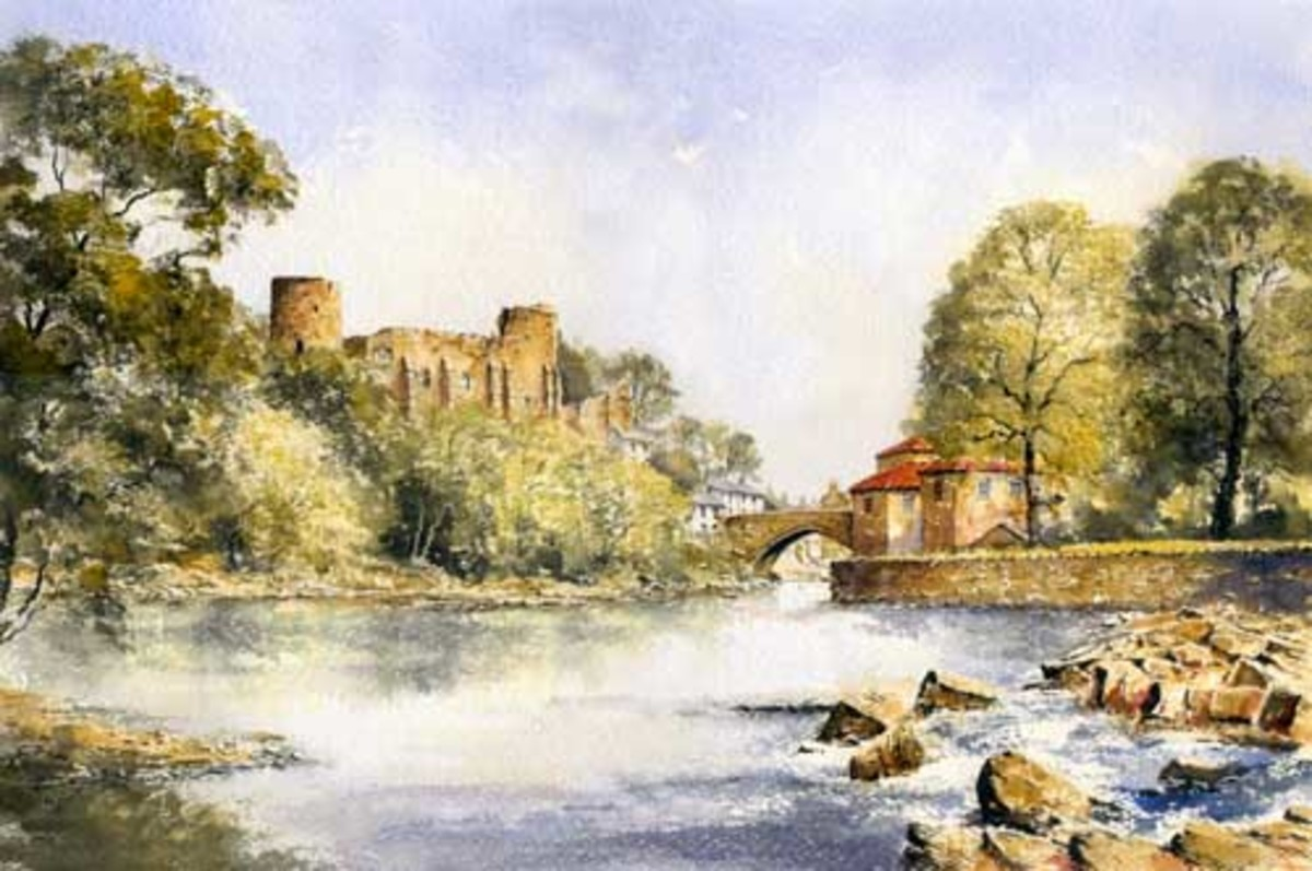 River view of the castle by Eric Thompson