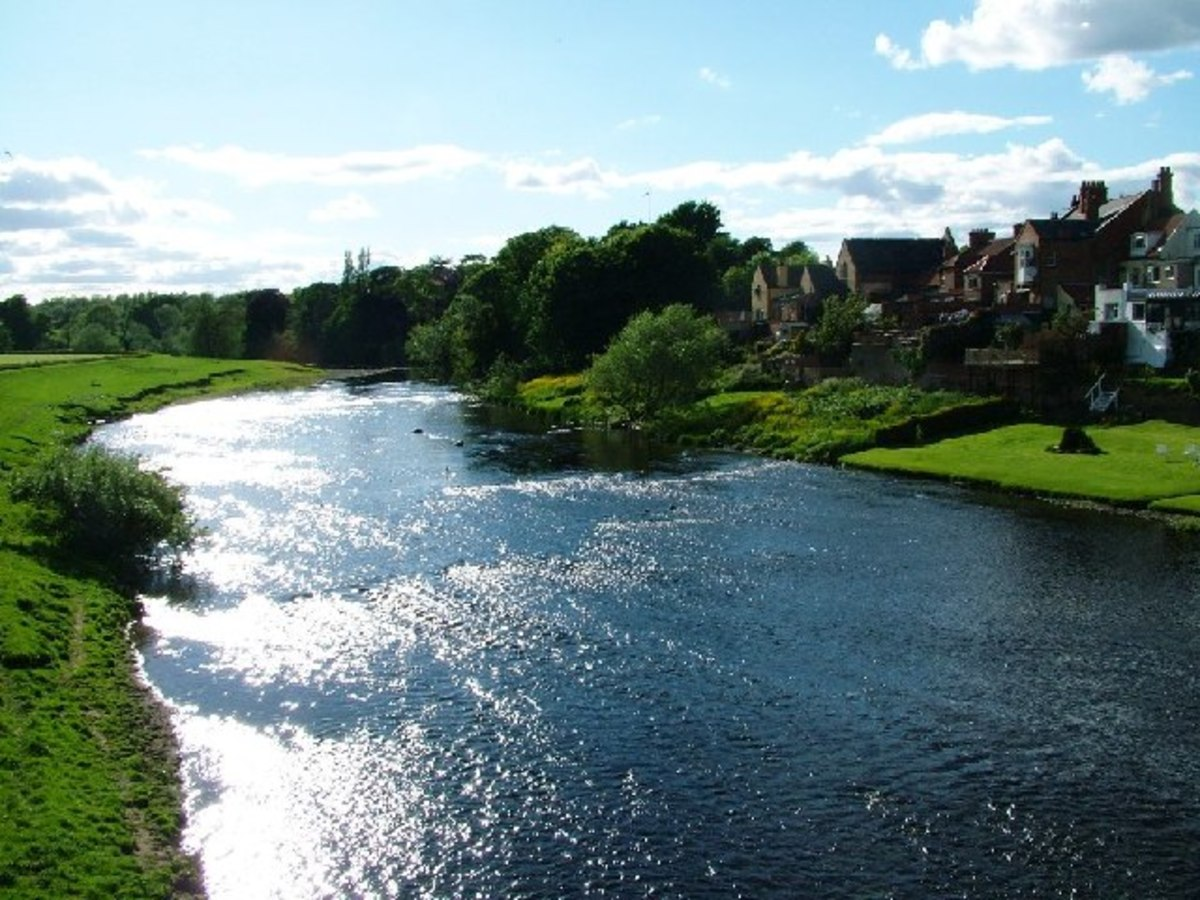 Looking across the Tees to Hurworth on the County Durham bank