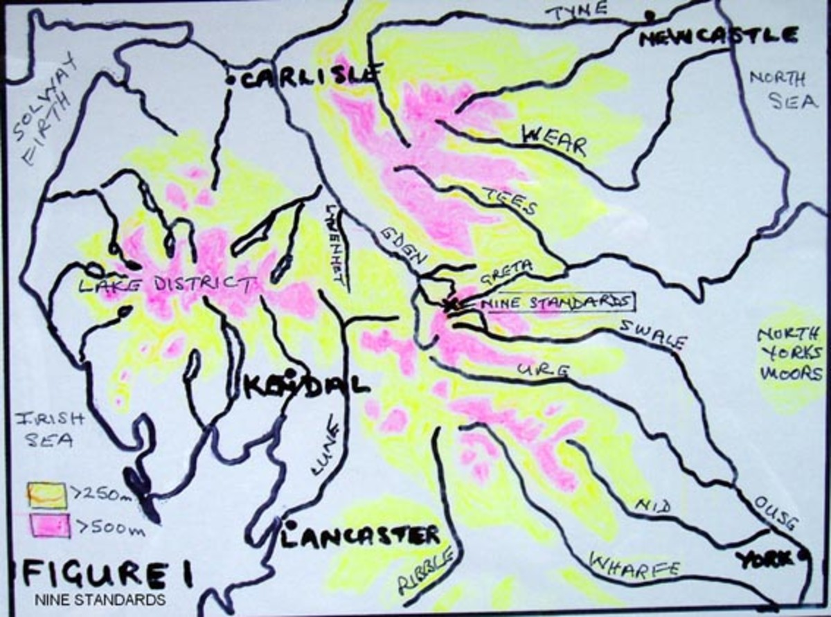 A sketch map of the riverways of northern England, and finally...