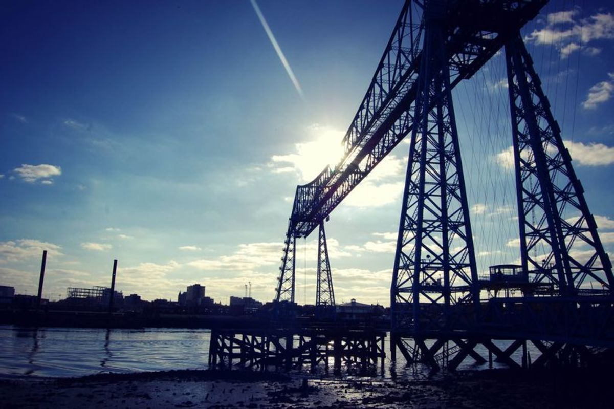 The Tees icon, the Transporter Bridge at the heart of what was once the docks area, opened 1911