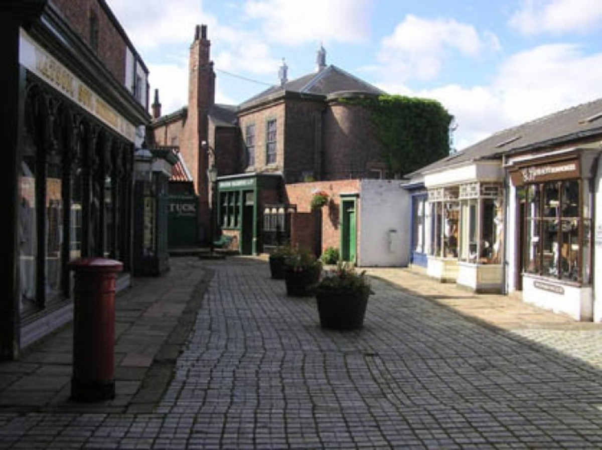 The 19th Century town street in Preston Hall Museum, You can enter the shops and buildings including a warehouse