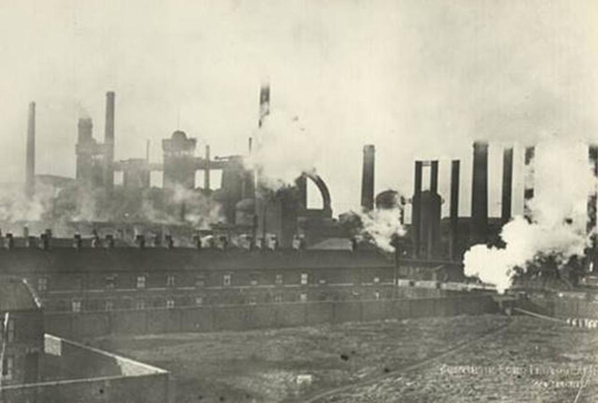 blast from the past - Newport Iron Works near the old town of Middlesbrough (now demolished) in what was then the Ironmasters' district
