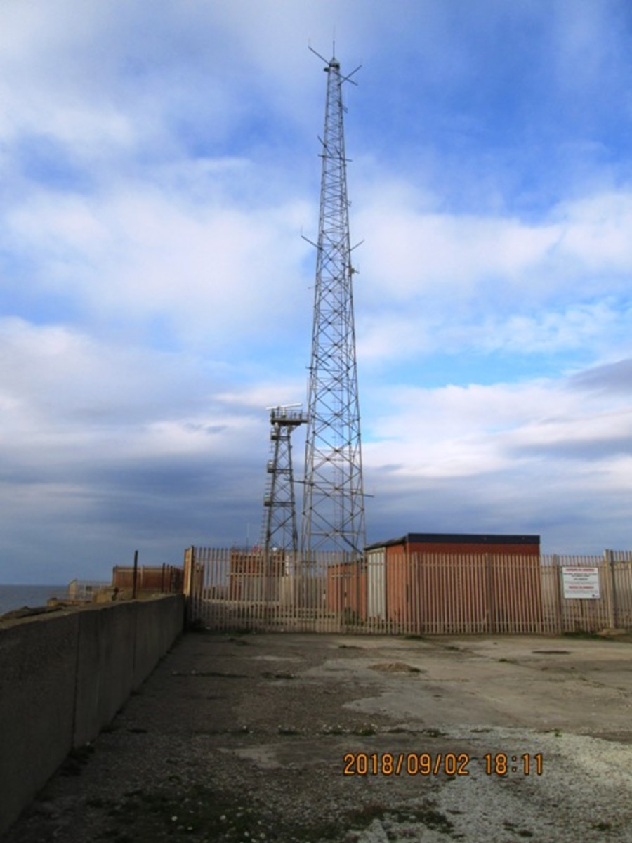 As it was in 2018, and by the looks of the site nothing's likely to change for a while. The impressive beacon and its surrounds have gone, replaced by separate radio and radar antennae.