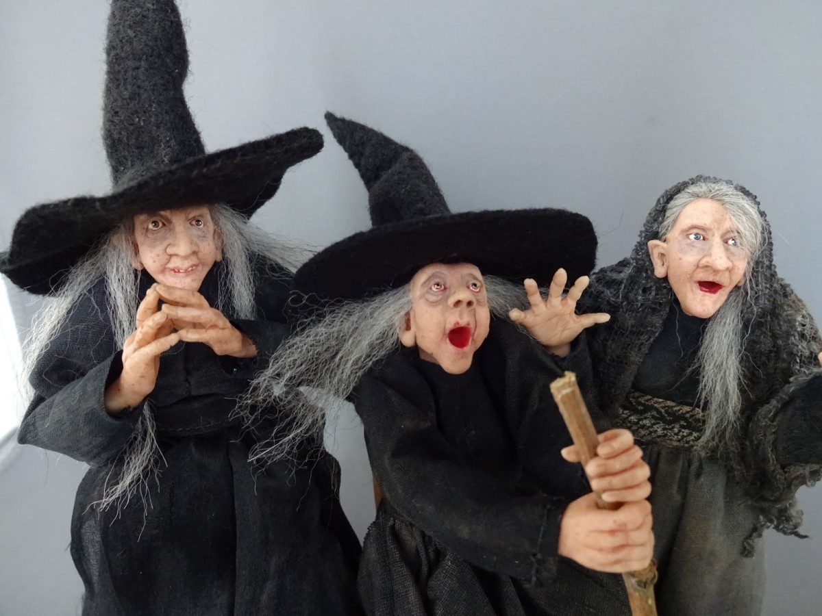 Witches conjuring by Pat Benedict (Used with permission)
