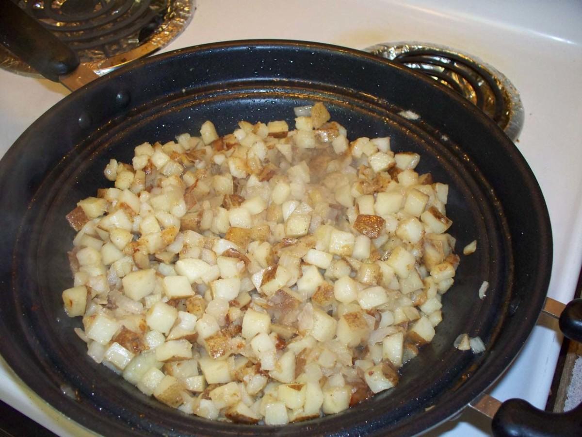 Sauteed potatoes.