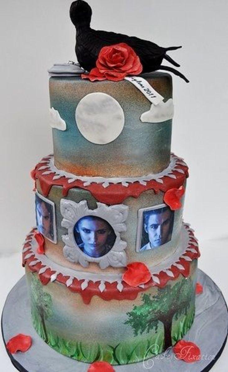 Halloween Themed Wedding Cakes
