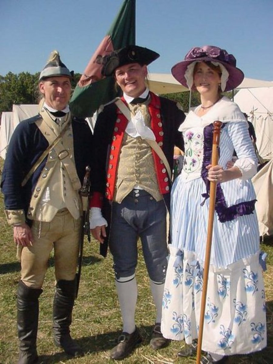 1601 to 1848 - Cavalier, Revolutionary War and Regency Clothing
