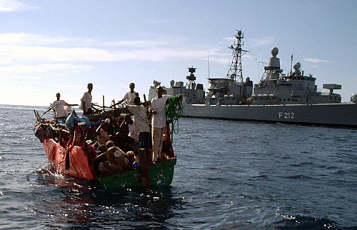 Somali smugglers in the Gulf of Aden
