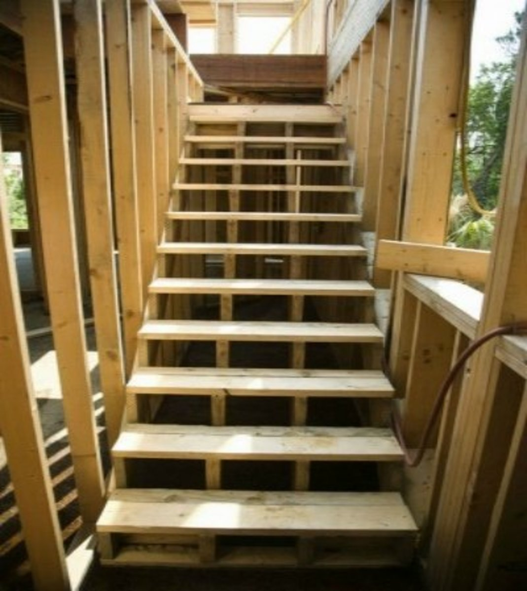 lumber stairway