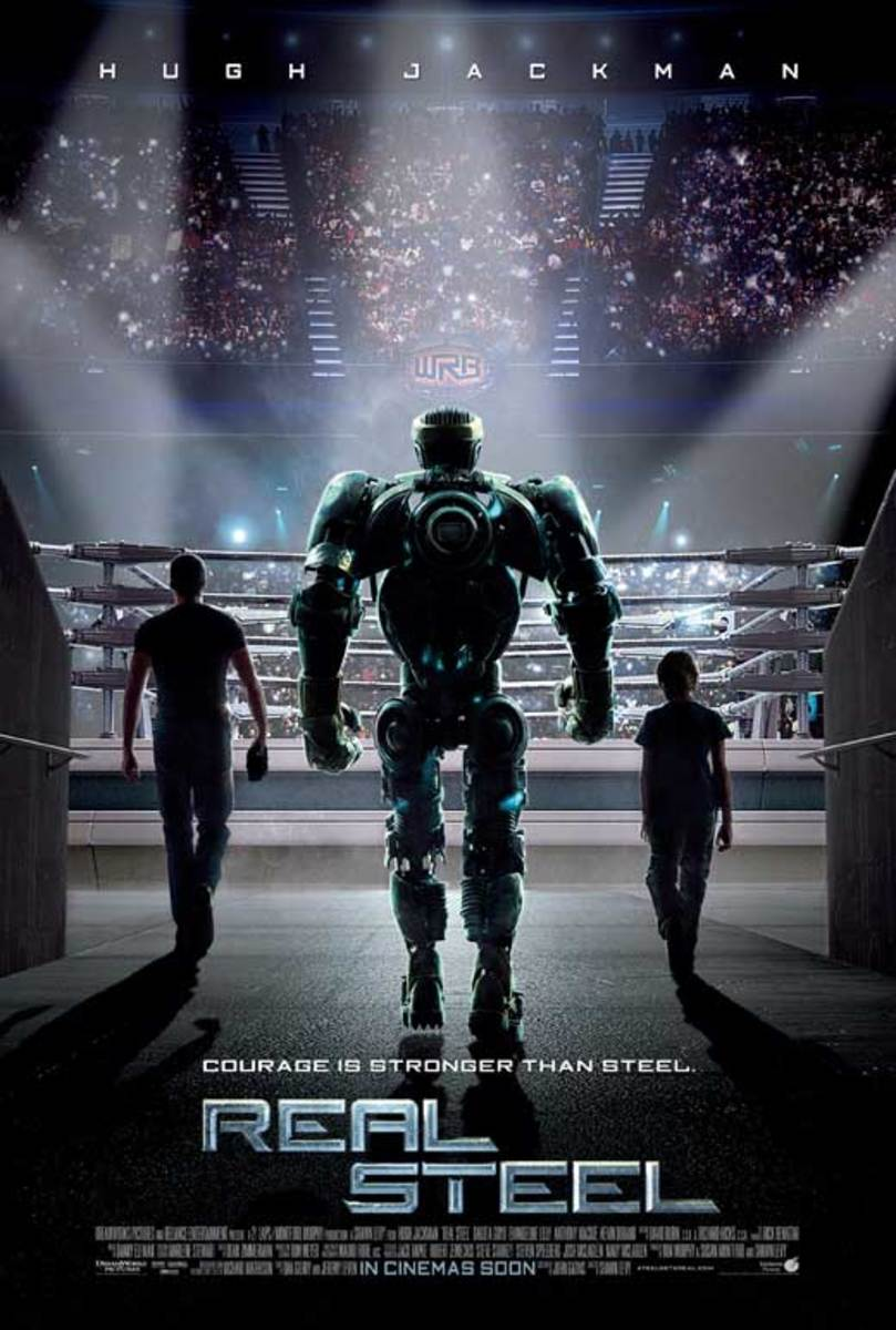Real Steel Advance Movie Poster Double Sided Original