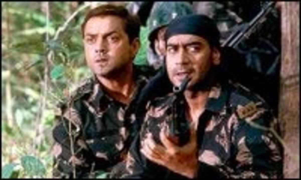 A scene from Tango Charlie Directed by Maniratnam