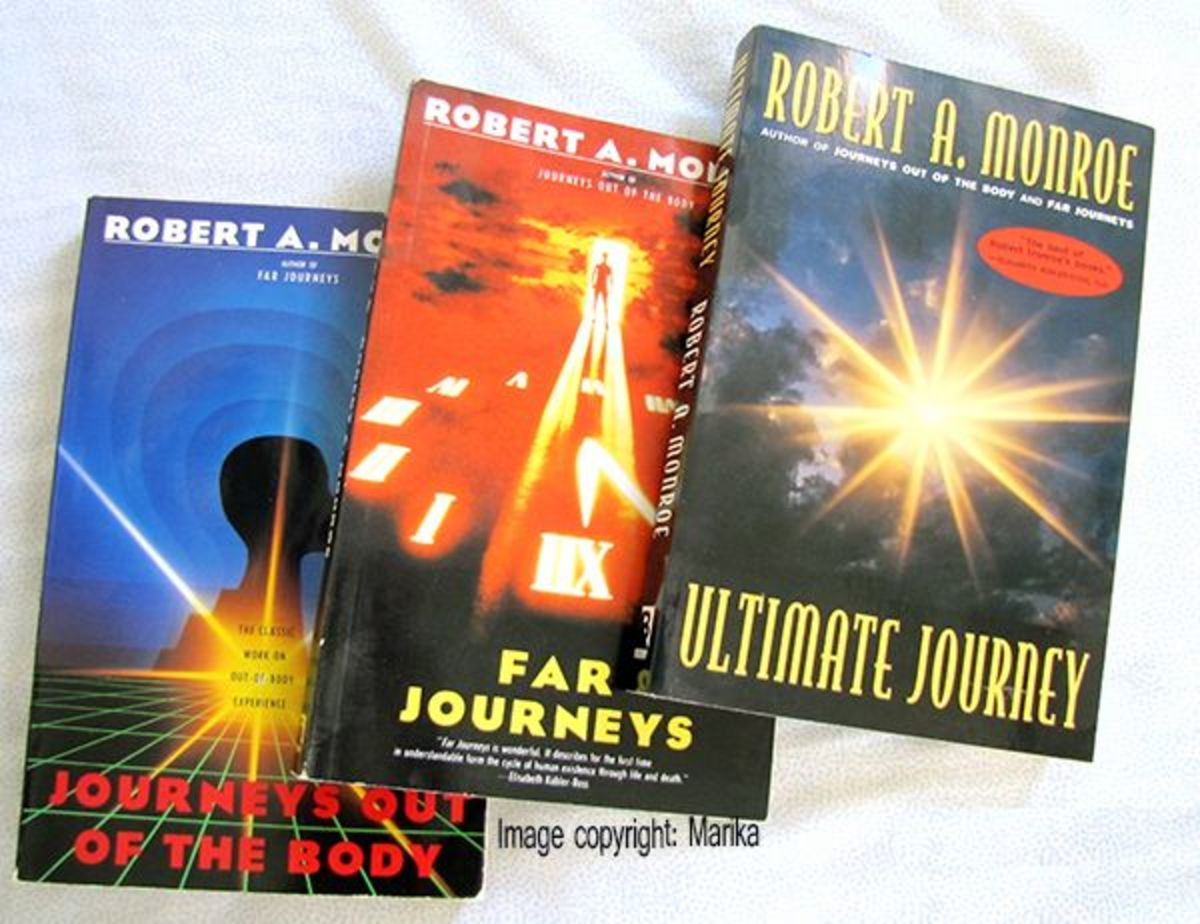 The 3 Robert Monroe books in my personal book collection