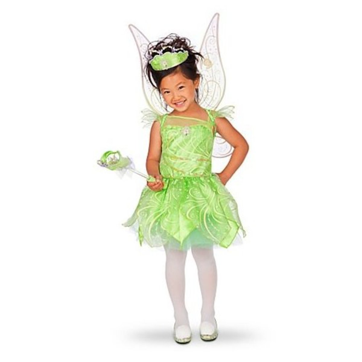 Glow in the Dark Tinkerbell Fairy Halloween Costumes for Girls