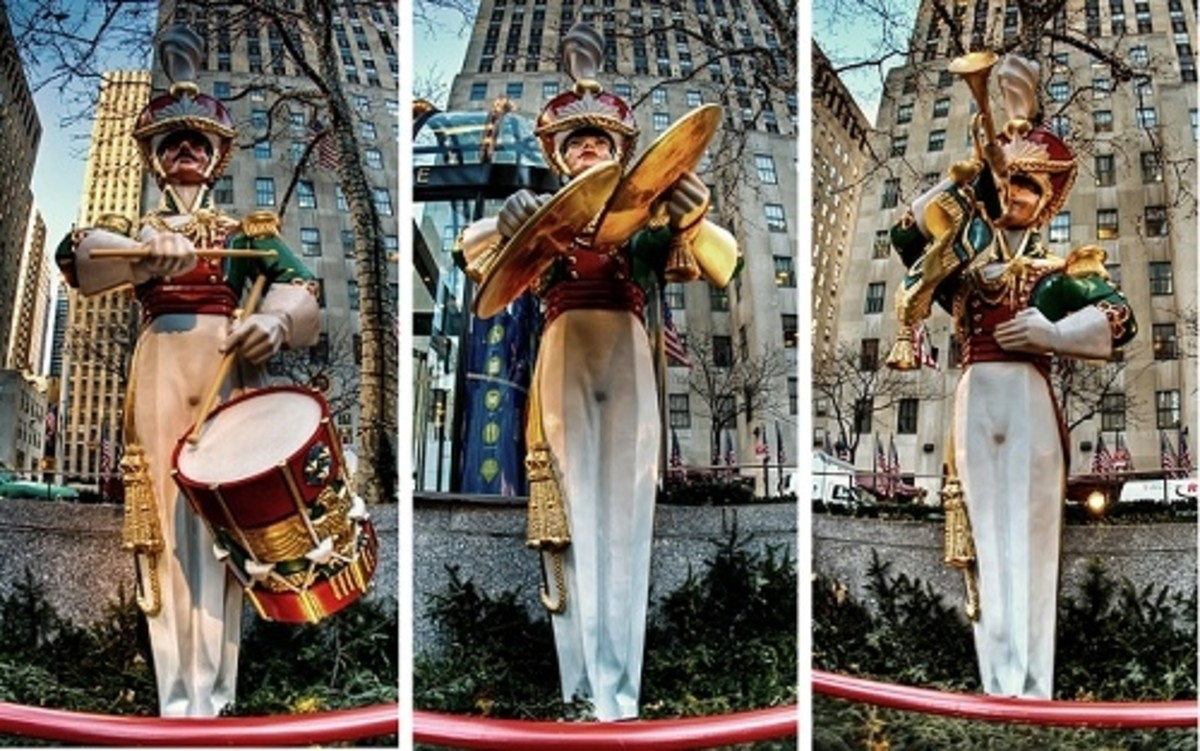 Life-Size Toy Soldier Band, Rockerfeller Center, NYC