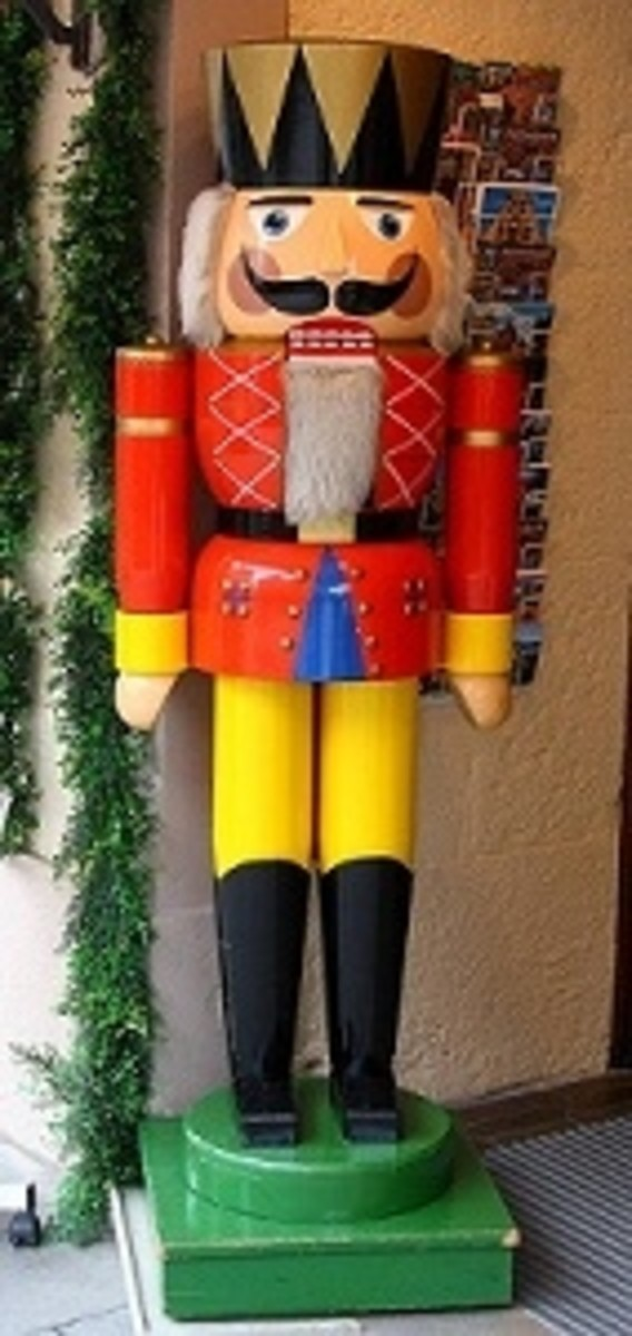 life-size German nutcracker
