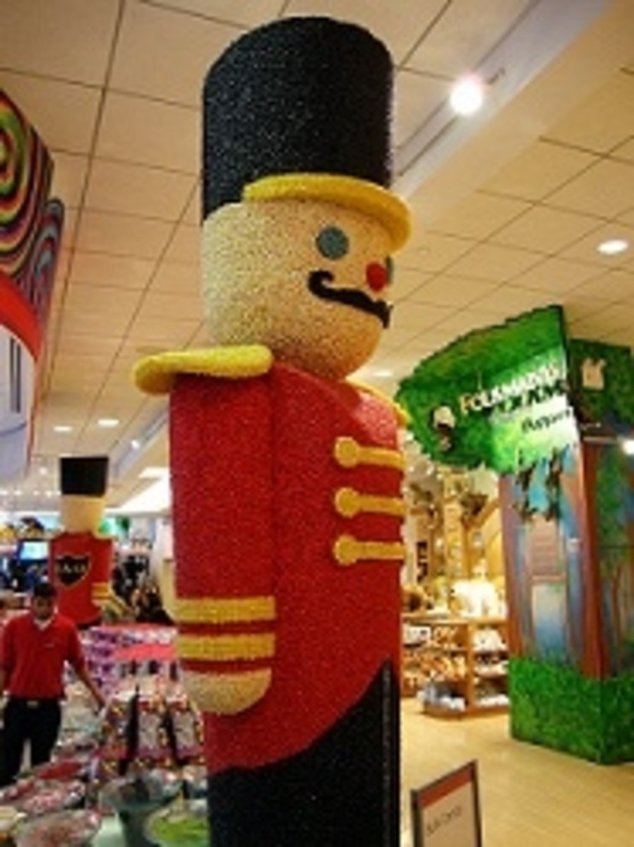 Toy Soldier made from candy